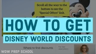 How to get Disney World discounts