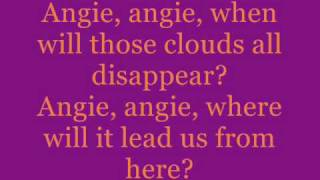 The Rolling Stones - Angie - w/ lyrics