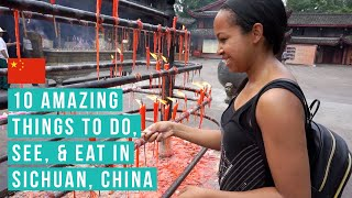 preview picture of video 'TRAVEL VLOG // 10 Amazing things to see & eat in Sichuan, China'