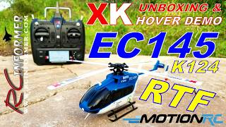 XK EC145 K124 RTF Helicopter from MotionRC UNBOXING By: RCINFORMER