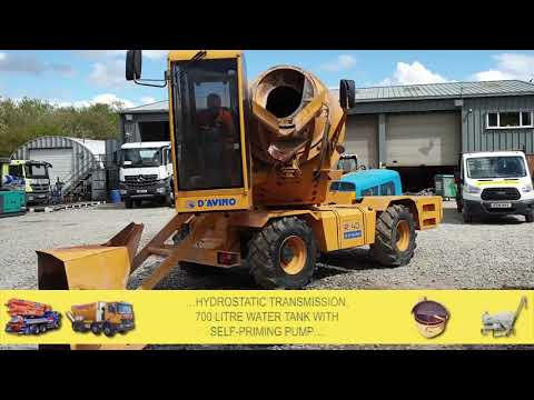 2012 D'AVINO R40 REVOLUTION Rough Terrain Concrete Mixer