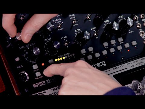 Moog Mother-32 step sequencer video tutorial