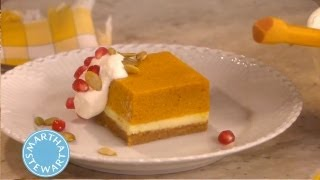 Pumpkin Mousse Cheesecake | Thanksgiving Recipes | Martha Stewart