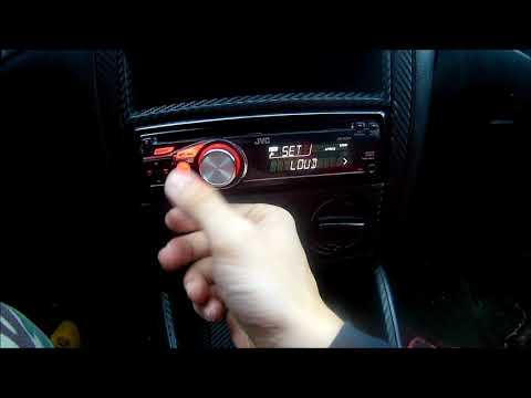 JVC KD-R311 AUDIO OPTIONS ( FADER / BALANCE / LOUD / SUBWOOFER) Settings