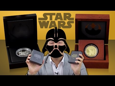 STAR WARS - R2-D2 Gold & Silber - SILBERMÜNZE & 2 GOLDMÜNZEN für Sammler & Fans [DISNEY MÜNZE]