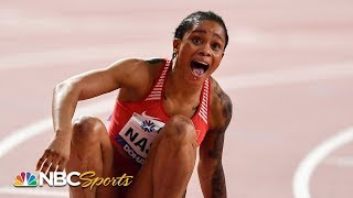 Stunning upset in historic women's 400m world championship final | NBC Sports