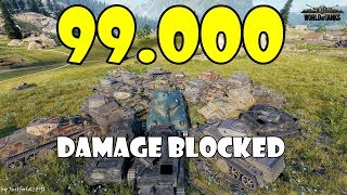 World of Tanks - Funny Moments | 99.000 DAMAGE BLOCKED in AMX 40!! (WoT Record)