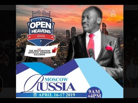 Open Heaven // MOSCOW RUSSIA.// Day 2 Morning //Apostle Johnson Suleman