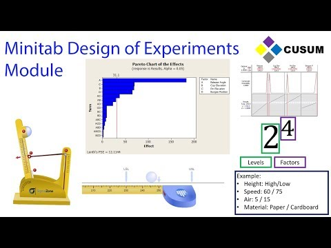 Design of Experiments (DOE) - Minitab Masters Module 5 - YouTube