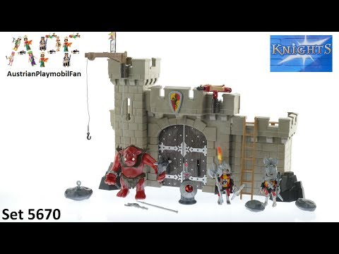 Vidéo PLAYMOBIL Knights 5670 : Citadelle des chevaliers avec troll