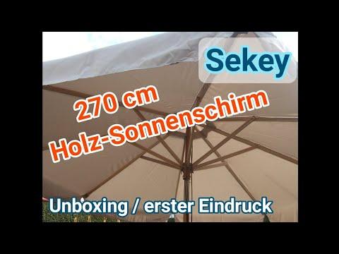 Sekey Sonnenschirm 270cm Unboxing und erster Eindruck