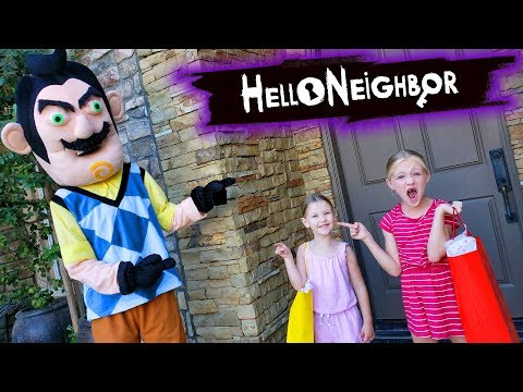 Hello Neighbor Comes to Our House With Gifts??? Tic Tac Toy XOXO Friends Toy Scavenger Hunt!