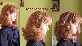 Layered Bob Haircut Tutorial With  Bangs For Women And Girls | Bob Haircut Tutorial Step By Step