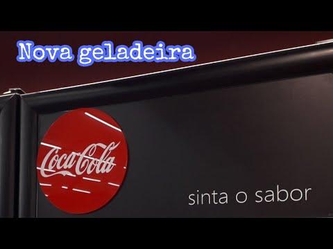 266 - Geladeira coca cola, expositora de refrigerante VRS16 IMBERA, BLACK