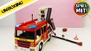 PLAYMOBIL Riesiges LÖSCHFAHRZEUG 5363 mit Licht und Sound! Einsatz bei der Feuerwehr! Demo