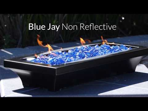 Blue Jay Non-Reflective Fire Glass | Lakeview Outdoor Designs