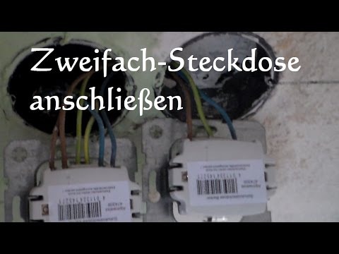 How to: Doppelsteckdose anschließen - zweifach Steckdose anschließen anklemmen installieren