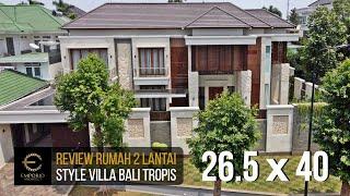 Video Hasil Konstruksi Rumah Hook Villa Bali 2 Lantai Ibu Rina II di  Cibubur, Jakarta