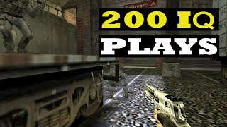 CS 1.6 - WHEN PROS Enter 200 IQ MODE (Smart Plays)