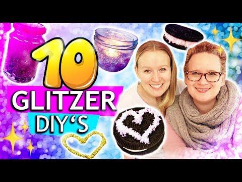 10 DIY IDEEN MIT GLITZER Eva & Kathis Favoriten: Slime, Deko, Schmuck,... Unsere Glitter Life-Hacks