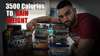 3500 Calorie Meal Plan | Weight GAIN Meal Plan | Meal-By-Meal Breakdown