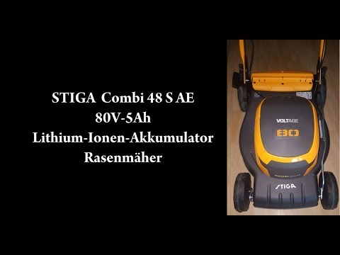 Stiga Combi 48 S AE – 80 V, 5-Ah Rasenmäher mit Akku, Vorschubantrieb, 46 cm, Mulchsystem