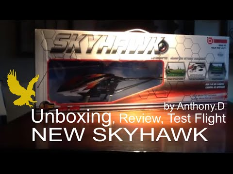 UNBOXING, REVIEW, TEST FLIGHT NEW SKYHAWK RC HELICOPTER