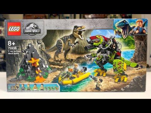 LEGO T-REX vs DINO Mech Jurassic World Set 75938 Review!