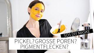 PICKEL? GROßE POREN? PIGMENTFLECKEN? Diese SOS DIY Maske mit Kurkuma hilft! |Sheila Gomez