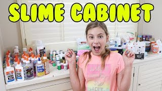 ORGANIZING MY SLIME CABINET!! WHAT A MESS 😱😱😱