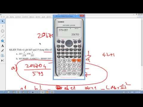 Xử lý tính toán với kết quả dưới dạng hỗn số