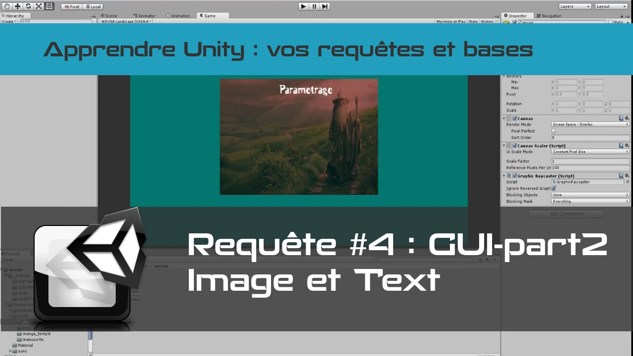 [tuto FR unity3d] GUI #2 - Canvas - Image - Text