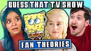 GUESS THAT TV FAN THEORY CHALLENGE | FBE Staff Reacts