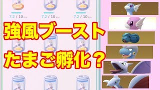 【ポケモンGO】強風ブースト卵孵化?【Pokémon GO】