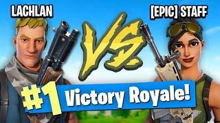EPIC EMPLOYEE VS LACHLAN (Fortnite Battle Royale)