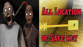 Safe Key locations in granny chapter 2 ( How to find safe key in granny chapter 2)