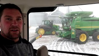 Moving Equipment Before the Blizzard