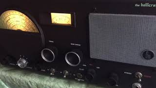 Lonely Guys 80 Meter AM Ham Net, 3885 kHz, Hallicrafters S40 Receiver- 11/18/17