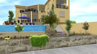 preview picture of video 'Virsoudia Plot 12 Peyia Cyprus 3D garden design'