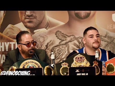 """ANDY RUIZ SR: """"WE ARE GOING TO BEAT JOSHUA & TAKE THE BELTS BACK TO MEXICO & USA"""""""
