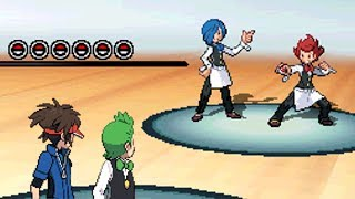 Simisage  - (Pokémon) - Double Battle with Gym Leader Cilan!! [Pokemon Black 2]