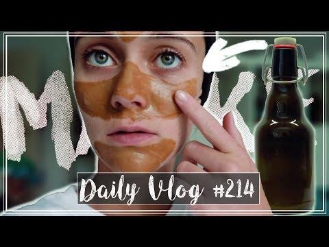 MASKE AUS BIERHEFE #dailyvlog Nr. 215 | MANDA