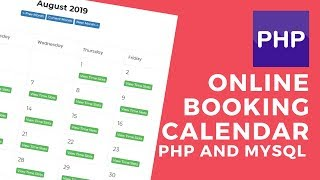 Online Booking Calendar with Admin Backend Php Mysql Ajax 2017