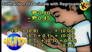 Subtraction of Decimals With or Without Regrouping