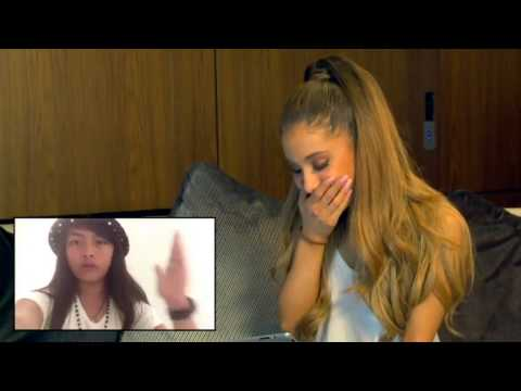 Ariana Reacts to fan's messages in Australia