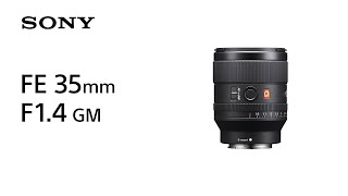 YouTube Video rYVFXbBUJQk for Product Sony FE 35mm F1.4 GM Lens by Company Sony Electronics in Industry Lenses