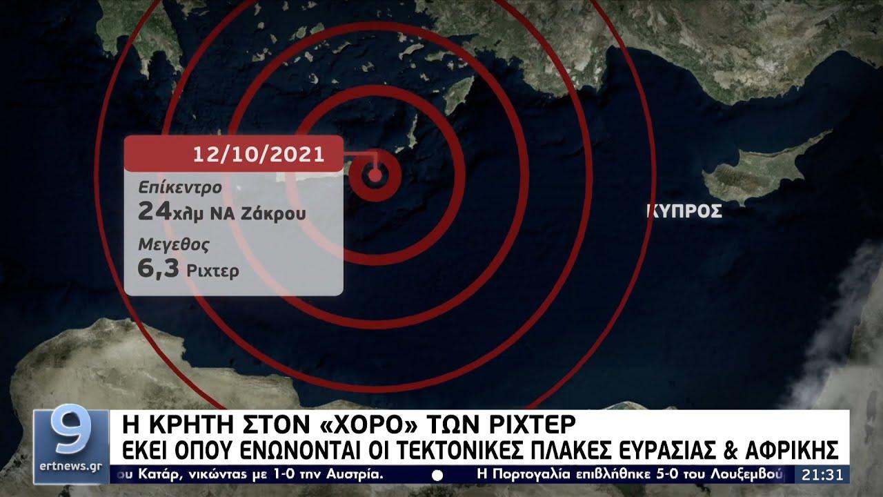 Κρήτη: Εκεί όπου ενώνονται οι τεκτονικές πλάκες Ευρασίας και Αφρικής ΕΡΤ 13/10/2021