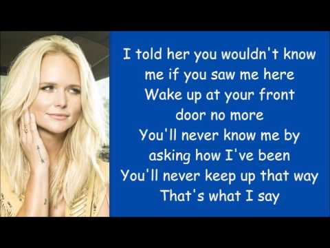 Miranda Lambert ~ You Wouldn't Know Me (Lyrics)