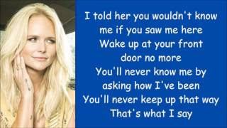Gambar cover Miranda Lambert ~ You Wouldn't Know Me (Lyrics)