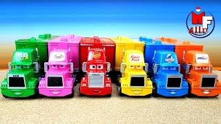 Disney Pixar Cars3 Toy. Belajar Warna Mobil Petir McQueen Mack.